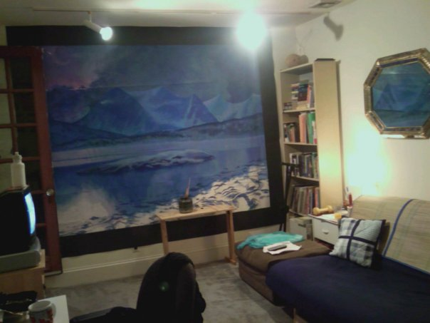 mural barely fit in my new apartment
