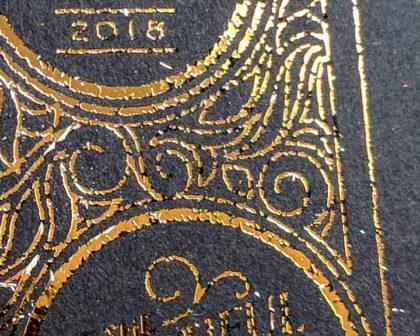 DIY gold foil on black cardstock