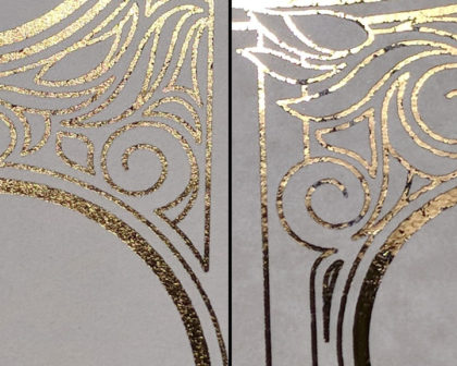 DIY gold foiling comparison