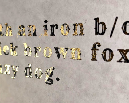 Results from using an iron for gold foiling