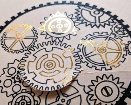 Patchwork DIY gold foiling