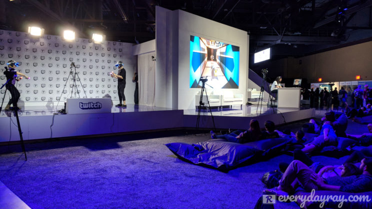 Virtual reality games at TwitchCon